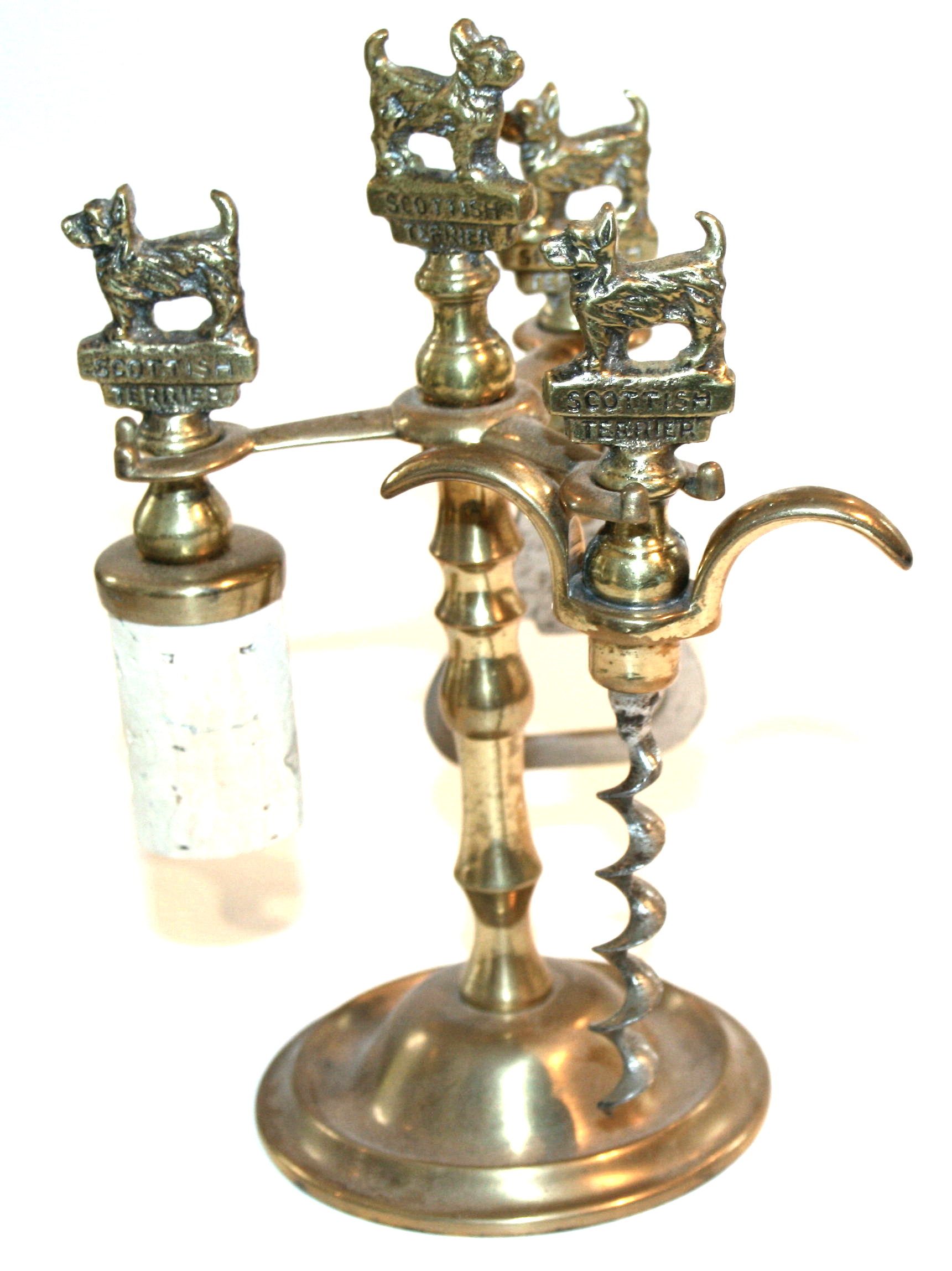 A British Br Bar Set With Stand C1930 In Vgc Measures 9 1 2 This Consists Of Cork Bottle Opener Stopper
